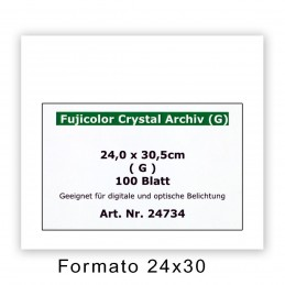 FUJI CRYSTAL ARCHIVE 24x30,5/100 F - Superficie lucida