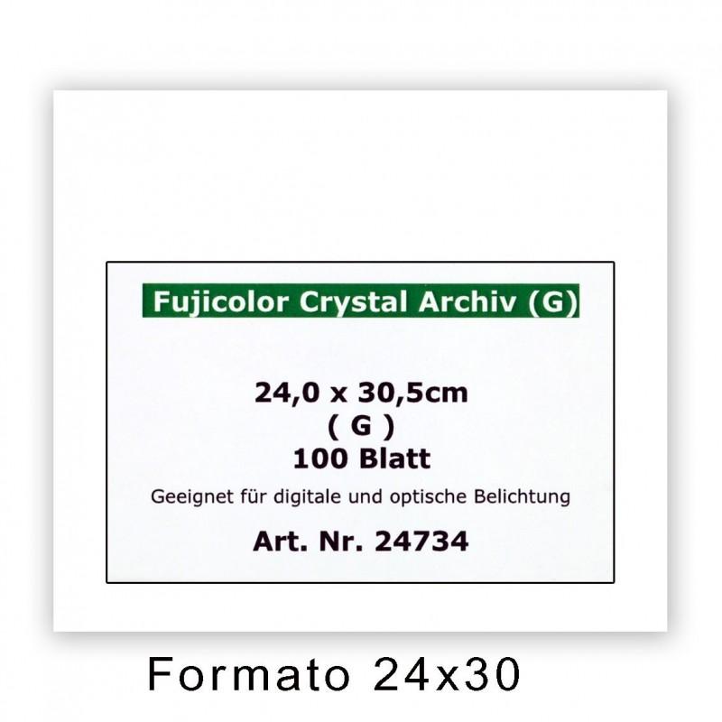 FUJI CRYSTAL ARCHIVE 24x30,5/100 F - Superficie lucida