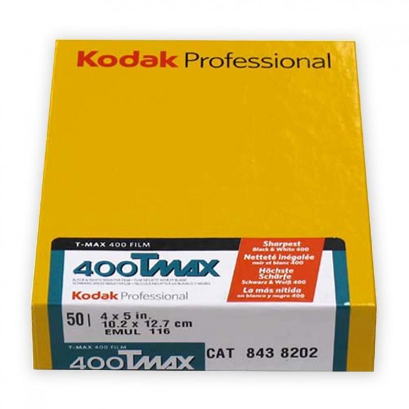 """KODAK TMAX 400 Pell. piana 4x5"""" da 50 fogli"""